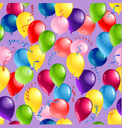 Balloons seamles card vector