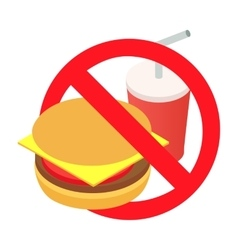 Barring a burger and soda 3d isometric icon vector