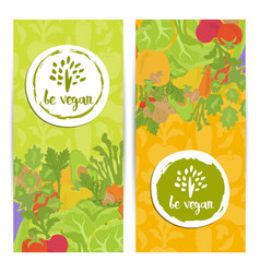 be vegan vertical flyers set vector image