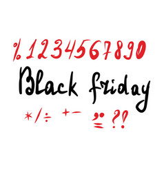 black friday lettering and a vector image