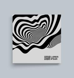 black white background pattern optical vector image