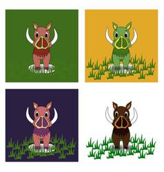 boar on a background boar vector image