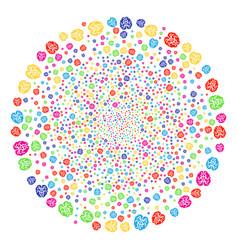 Brain exploding spheric cluster vector