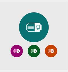 bus ticket icon simple vector image