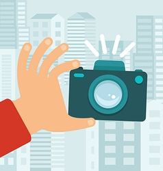 Camera in flat style vector