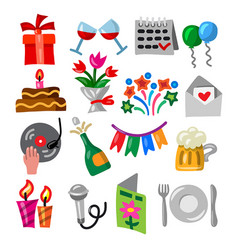 celebrations and event icons vector image