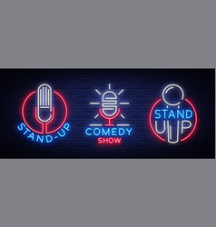 comedy show stand up an invitation collection of vector image