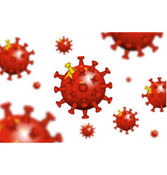 covid19-19 3d floating corona virus with china vector image