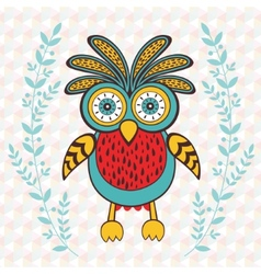 Cute spring owl vector