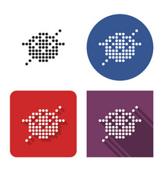 dotted icon sushi roll and chopsticks in four vector image