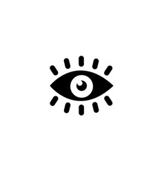 eye vision flat icon vector image