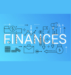 finance 2019 word trendy composition concept vector image