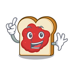 finger bread with jam mascot cartoon vector image