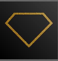 Frame gold golden sequin diamond vector