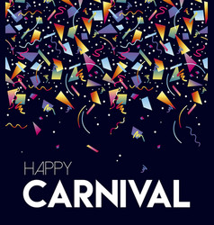 Happy carnival party event poster design template vector