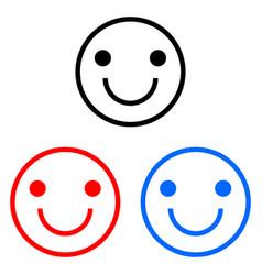 Happy smiley icon vector