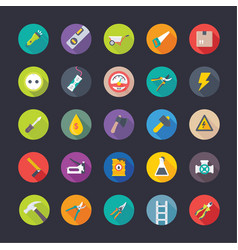 industrial and construction flat icons pack vector image