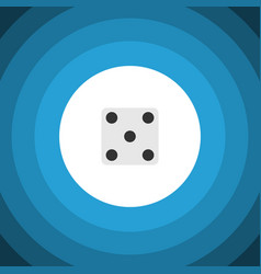 Isolated dice flat icon backgammon element vector