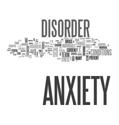 jacketed general anxiety disorder text background vector image