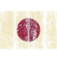 Japanese grunge flag vector image