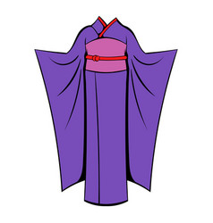 japanese kimono icon cartoon vector image