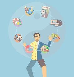 Life balance juggling vector