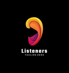Logo listeners gradient colorful style vector