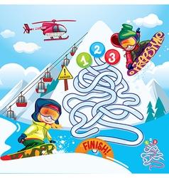 Maze snowboard vector