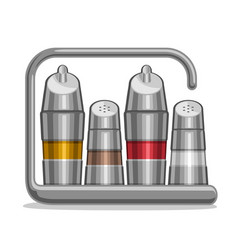 Metal shakers for salt and pepper vector