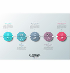 Modern infographic template vector