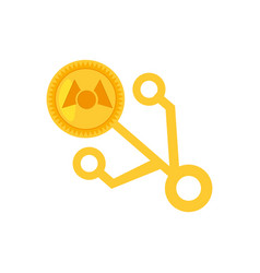 money mastercoin golden virtual vector image