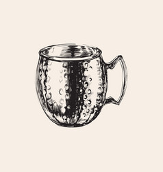 moscow mule empty mug hand drawn drink vector image