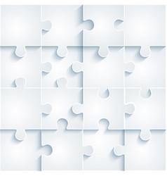 parts paper puzzles business concept template vector image