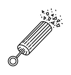Petard party icon doodle hand drawn or outline vector