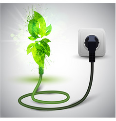 plugged in plant or leaves vector image