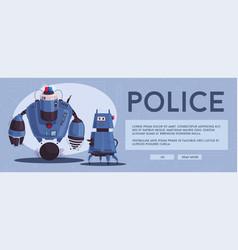 Police drone robot vector
