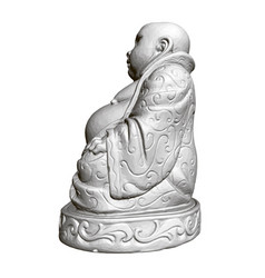 polygonal statue maitreya 3d side view vector image
