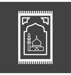 Prayer Rug vector image vector image