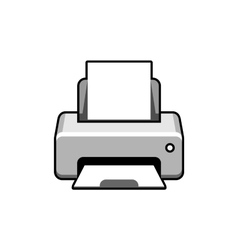 Realistic printer icon vector image