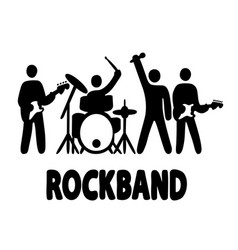 rock band simple vector image
