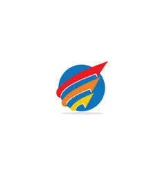 round arrow progress logo vector image
