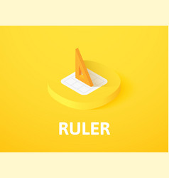 ruler isometric icon isolated on color background vector image