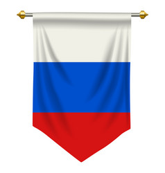 Russia pennant vector