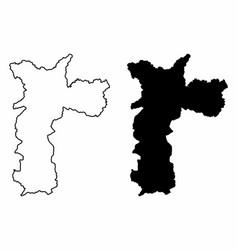 sao paulo city maps vector image