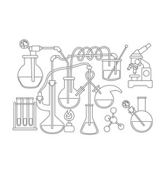 science and chemistry doodle background black and vector image