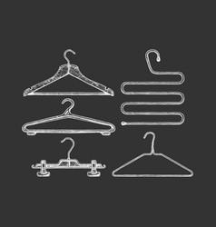 set coat hanger vector image