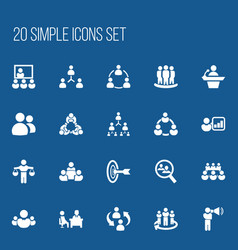 Set of 20 editable cooperation icons includes vector