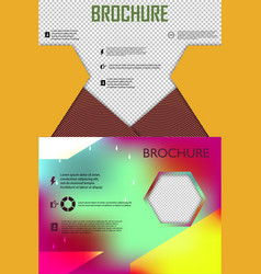 Set of poster flyer brochure cover design layout vector