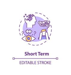 Short term concept icon vector