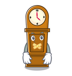 Silent grandfather clock mascot cartoon vector